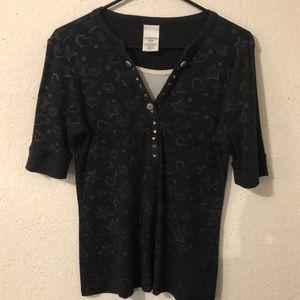 🔮 5/$25 Canyon River Blues Stars & Hearts Shirt